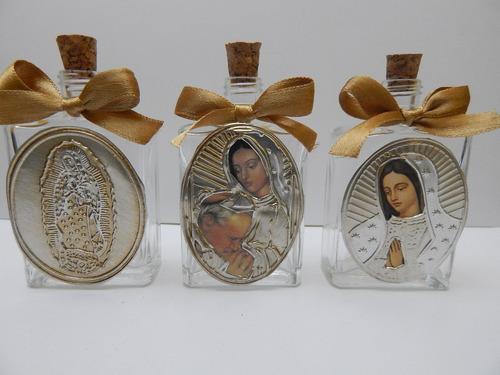 recuerdo bautizo,botella agua bendita.virgen maria,angel mn4