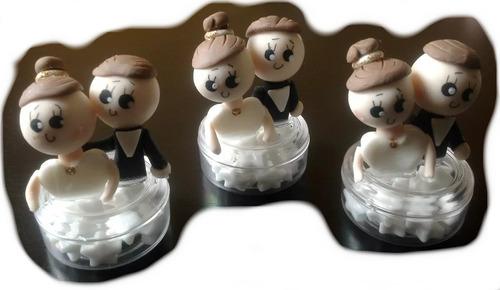 recuerdo boda dulcero novios personalizado pasta cotillon