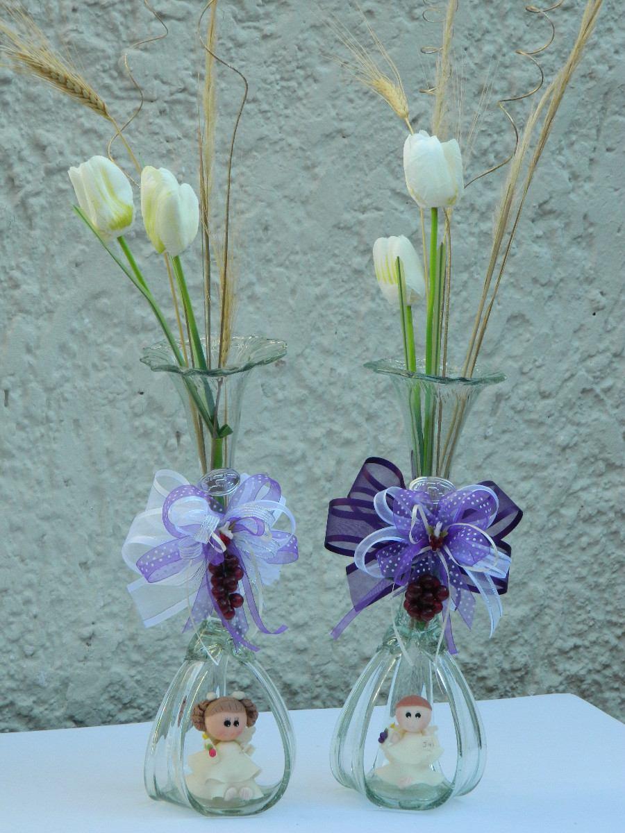 Recuerdo y centro de mesa bautizo boda presentacion for Mesas de cristal para bodas