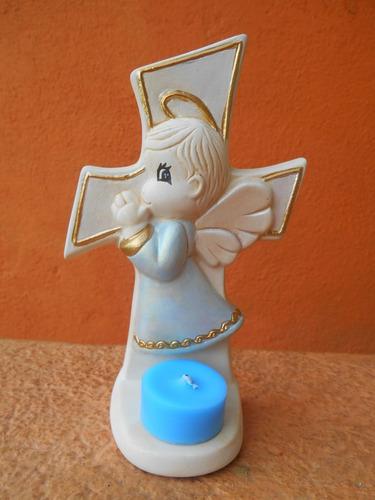 recuerdo de angelito de trebol p/bautizos