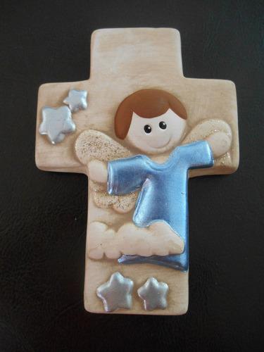 recuerdo de cruz mini de pared para bautizos