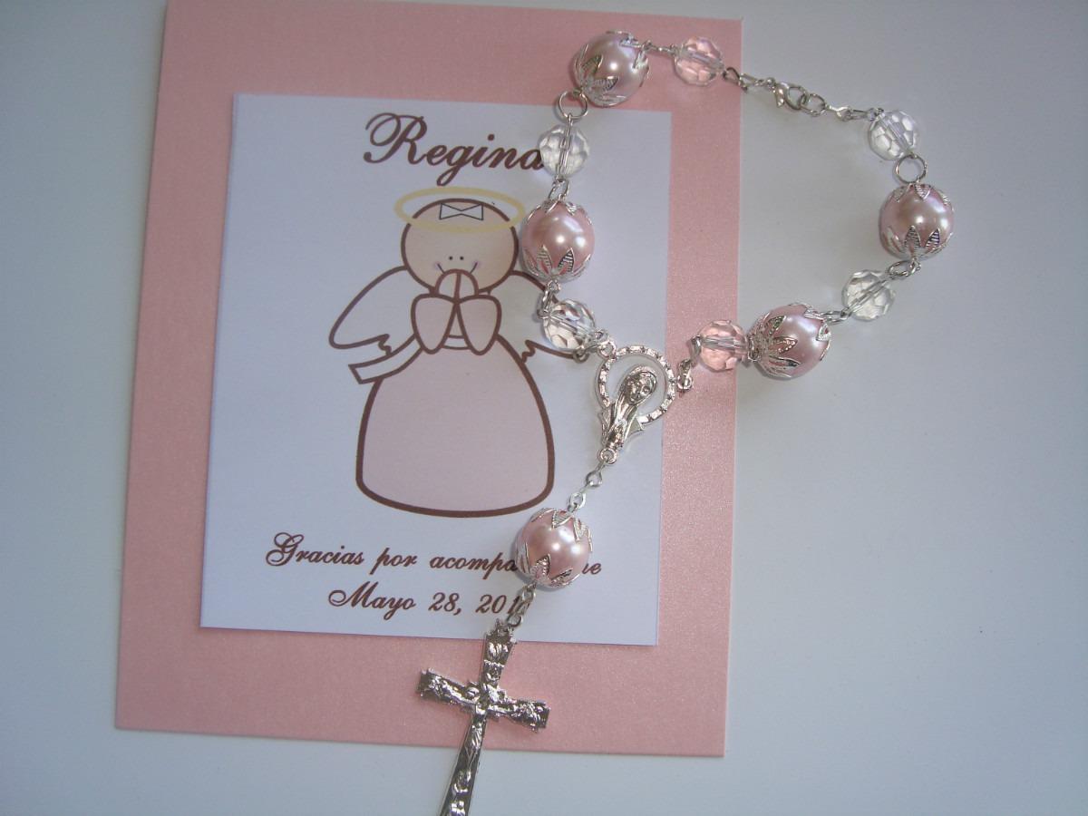 Recuerdo decenario de perlas bautizo boda - Detalles de comunion para hacer en casa ...