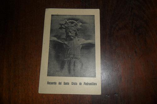 recuerdo del santo cristo de piedramillera antigua estampita
