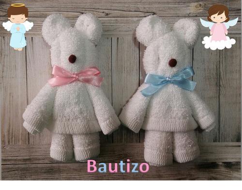 recuerdo ositos osos toalla facial bautizo baby shower