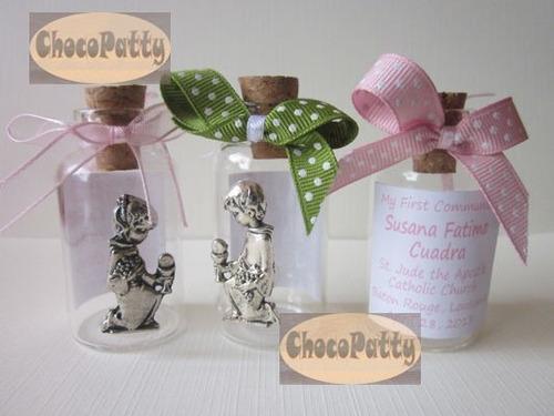 recuerdo primera comunión: botellitas para agua bendita