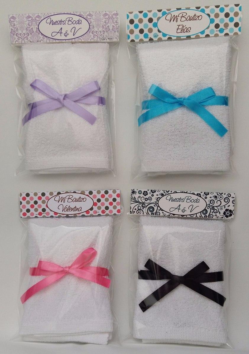 Recuerdo toalla facial boda xv bautizo personalizado for Adornos con toallas