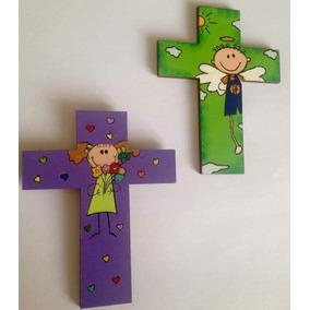 782d7ca3be5 Cruces De Madera Recuerdos Para Bautizo O Primera Comunion ...
