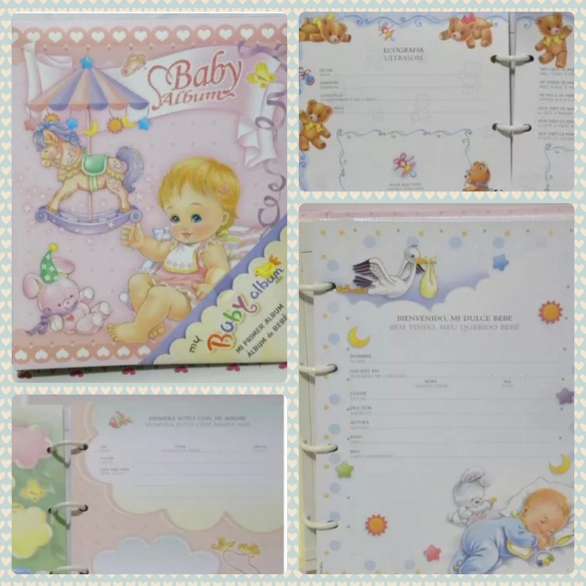 """Hermoso Bebé Niña álbum de fotos 6/"""" X 4/"""" 80 páginas recién nacido Recuerdo Regalos"""