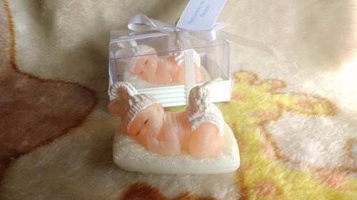 recuerdos baby shower velas bebe