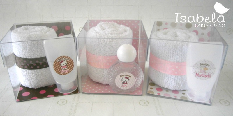 Recuerdos bautizo baby shower comunion kit toalla y gel for Adornos con toallas