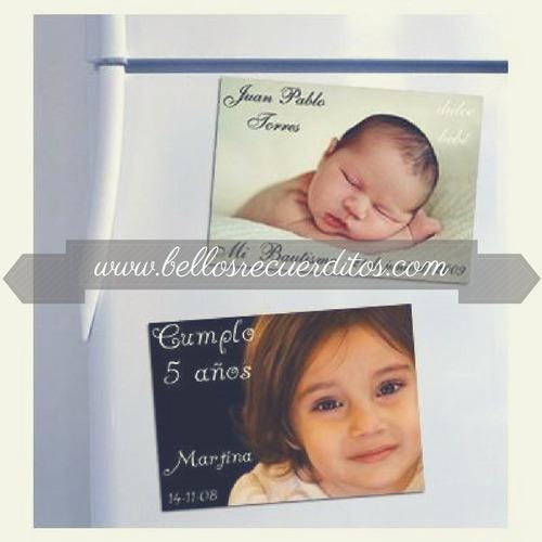 recuerdos bautizo fotos imantadas imantados personalizados