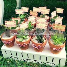 Recuerdos De Bautizo Con Cactus.Recuerdos Bautizo Souvenirs Macetitas Suculentas Cactus