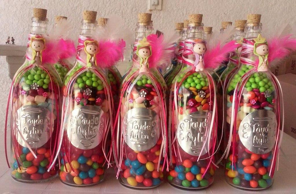 Recuerdos botellas de vidrio c dulces o regalo - Como pegar corchos de botellas ...