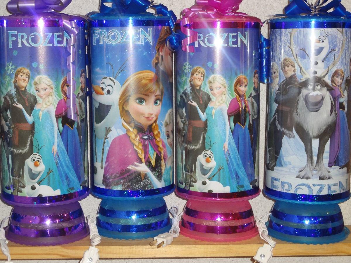 Recuerdos centros de mesa lamparas frozen en for Centros de mesa de frozen