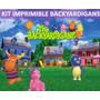 Kit Imprimible Backyardigans Diseñá Tarjetas , Cumples Y Mas
