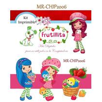 Kit Imprimible Fresita Diseña Tarjetas, Cumpleaños Y Mas