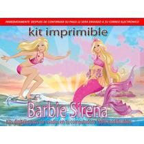 Kit Imprimible Barbie Sirena 2014 Full 2x1 2014 Cumpleaños