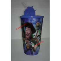 Vasos Toy Story, Spiderman, Mickey, Jake Y + Con Tapa Y P.