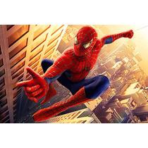 Set Escolar Spiderman Cartuchera Y Portaminas