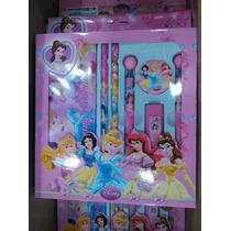 Set Escolar De Princesas Cartuchera Y Portaminas