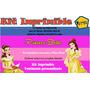Kit Imprimible Princesa Bella,tarjeta, Invitaciones,diseño