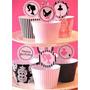Mega Kit Imprimible Cupcake Fashion + Capecillos + Wrappers