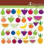 Kit Imprimible Frutas Y Verduras 2 Imagenes Clipart