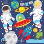 Kit Imprimible Astronautas Espacio 3 Imagenes Clipart