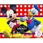 Kit Imprimible Mickey Mouse Diseñá Tarjetas Cotillon Mas