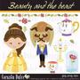 Kit Imprimible Princesa Bella Y La Bestia 5 Imagenes Clipart