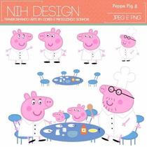 Kit Imprimible Pack Fondos Peppa Pig 14 Clipart