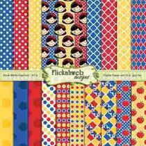 Kit Imprimible Pack Fondos Princesa Blanca Nieves 2 Clipart