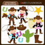 Kit Imprimible Vaqueros Cowboy 4 Imagenes Clipart
