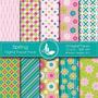 Kit Imprimible Pack Fondos Flores 44 Clipart