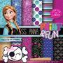 Kit Imprimible Pack Fondos Frozen 11 Clipart
