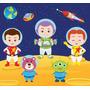 Kit Imprimible Astronautas Espacio 7 Imagenes Clipart