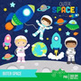 Kit Imprimible Astronautas Espacio Imagenes Clipart