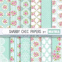 Kit Imprimible Pack Fondos Shabby Chic 80 Clipart