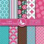 Kit Imprimible Pack Fondos Flores 46 Clipart