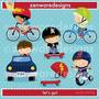 Kit Imprimible Bicicletas Imagenes Clipart