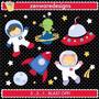 Kit Imprimible Astronautas Espacio 11 Imagenes Clipart