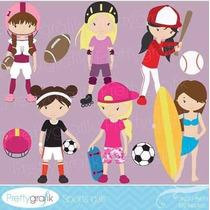 Kit Imprimible Deportes 2 Imagenes Clipart