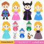 Kit Imprimible Princesa Bella Durmiente 3 Imagenes Clipart