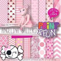 Kit Imprimible Pack Fondos Angelina Ballerina Clipart