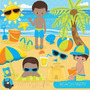 Kit Imprimible Fiesta De Playa Verano 3 Imagenes Clipart