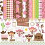 Kit Imprimible Vaqueros Cowgirl 3 Imagenes Clipart