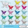 Kit Imprimible Mariposas 2 Imagenes Clipart