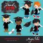 Kit Imprimible Graduacion 5 Imagenes Clipart