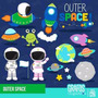 Kit Imprimible Astronautas Espacio 12 Imagenes Clipart