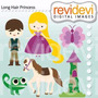 Kit Imprimible Enredados Rapunzel 6 Imagenes Clipart